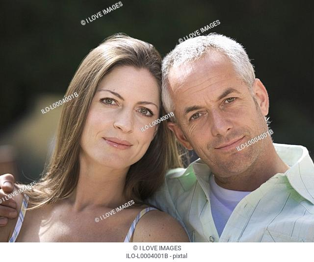 Portrait of a couple, close-up