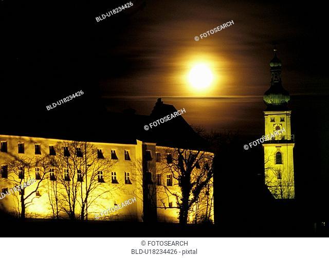 architecture, illuminated, building, aichner