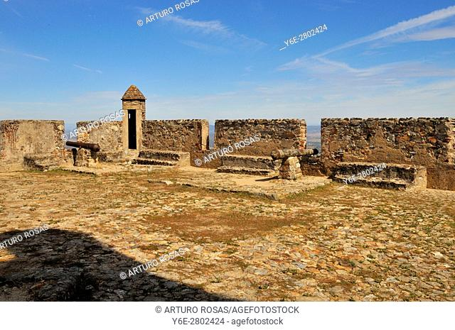 Battlements of the castle of Marvão, Alentejo, Portugal