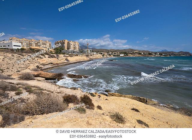 Playa de San Juan Coastline in Alicante Coastline, Spain