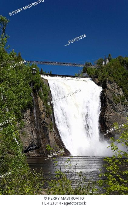 Montmorency Falls in spring, Montmorency Falls Park, Beauport, Quebec, Canada