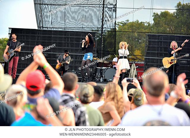 1st annual Kiss 99.9 Chilli Cookoff at CB Smith Park Featuring: Jimi Westbrook, Karen Fairchil, Kimberly Roads Schlapman