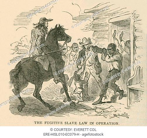 The Fugitive Slave Law In Operation Even Before Was Passed