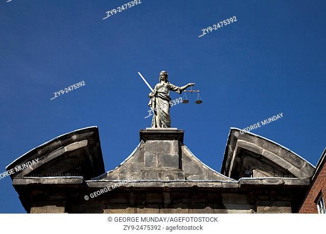 Sculpture of (Scales of) Justice, Dublin Castle, Ireland