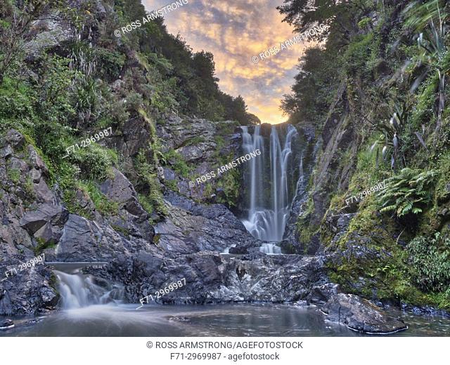 Piroa waterfall in the Waipu Gorge, Northland, New Zealand