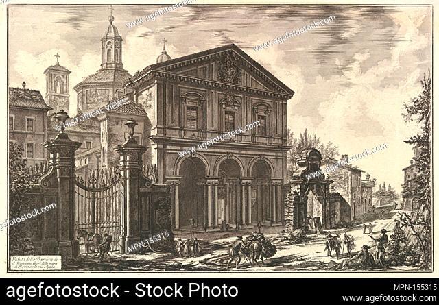 View of the Basilica of San Sebastiano fuori delle mura [St. Sebastian outside the Walls] on the Appian Way, from Vedute di Roma (Roman Views)