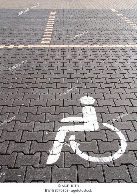 parking site for disabled persons, Germany