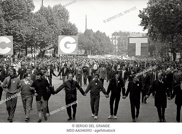 The risk of a revolution in Paris has been averted. The placards with letters C, G and T of the 'Confédération Générale du Travail' (General Confederation of...