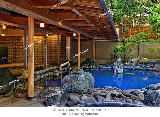 Onsen hot bath in Izu Peninsula, Japan