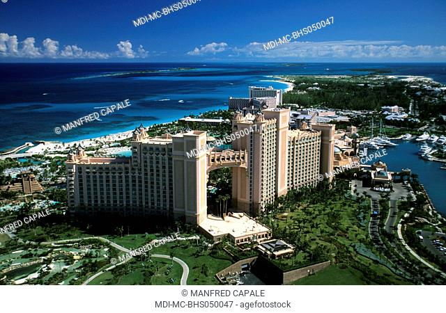 Aerial view of the Atlantis Resort and Casino