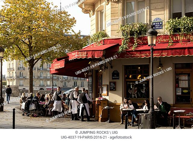 Île Saint-Louis Cafe, Paris, France