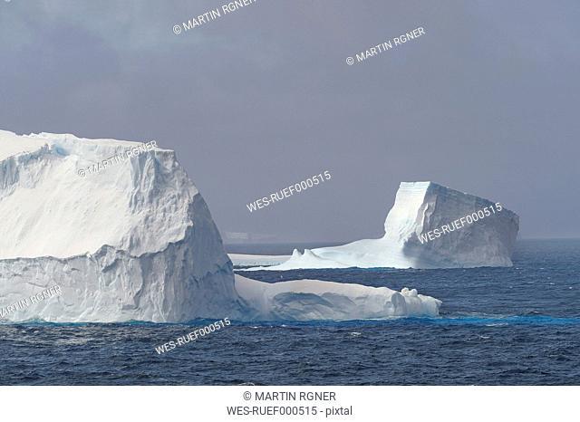 Antarctic, Antarctic Peninsula, View of iceberg in weddell sea