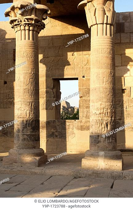 Isis temple, Agilkia island, Philae, Aswan, Egypt