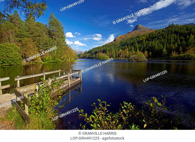 Scotland, Highland, Glencoe. The Pap of Glencoe above Glencoe Lochan