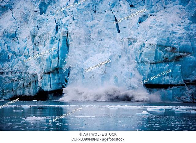 Calving glacier, Glacier Bay National Park and Preserve, Alaska