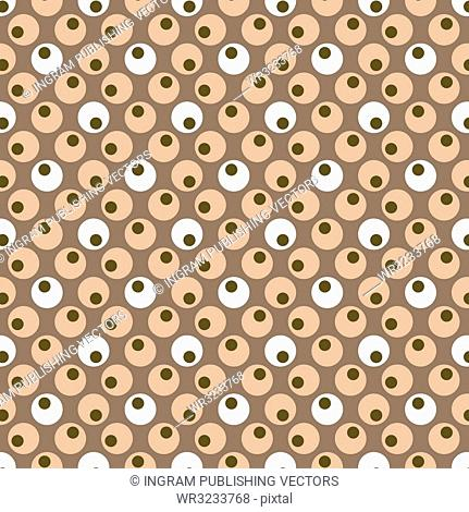 illustrated seventies style wallpaper with a seamless repeat design