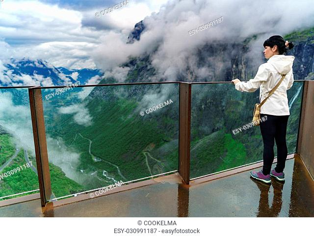Troll road lookout observation deck view point beautiful nature norway