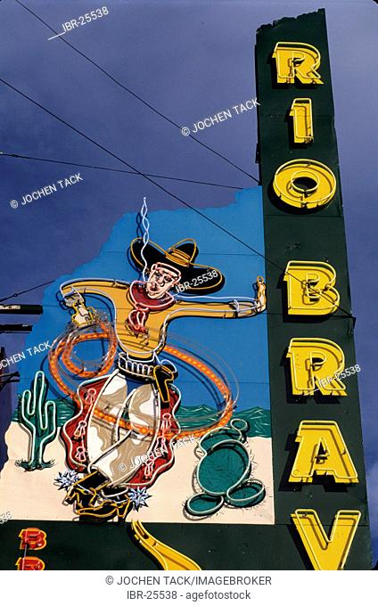 USA, United States of America, New Mexico: motel sign