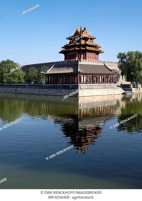 Imperial Palace, corner tower, Forbidden City, UNESCO World Heritage Site, Beijing, China