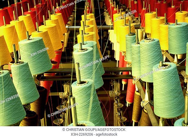 '1910 Lartigue'' Basque weaving factory, Oloron-Sainte-Marie, Pyrenees-Atlantiques department, Aquitaine region, France, Europe