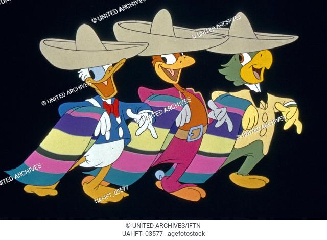 The Three Caballeros, USA 1944, aka: Drei Caballeros, Regie: Norman Ferguson, Darsteller: Donald Duck, Jose Carioca, Panchito (Trickfiguren)