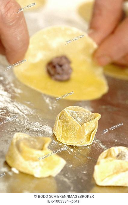 Completion of the production of tortellini