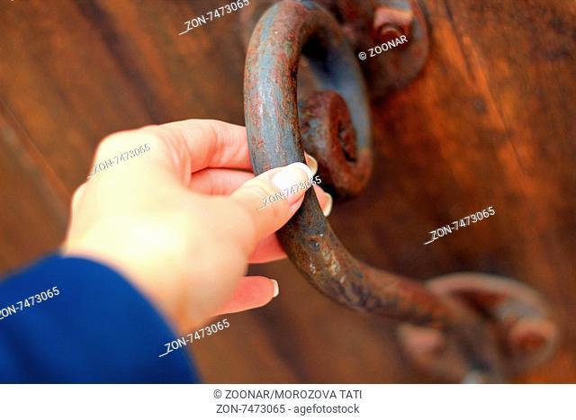 Old rusty doorknob