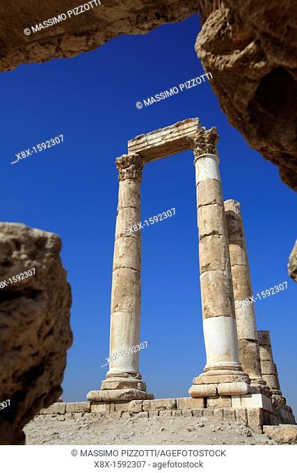 Remains of the Temple of Hercules on the Citadel mountain, Amman, Jordan