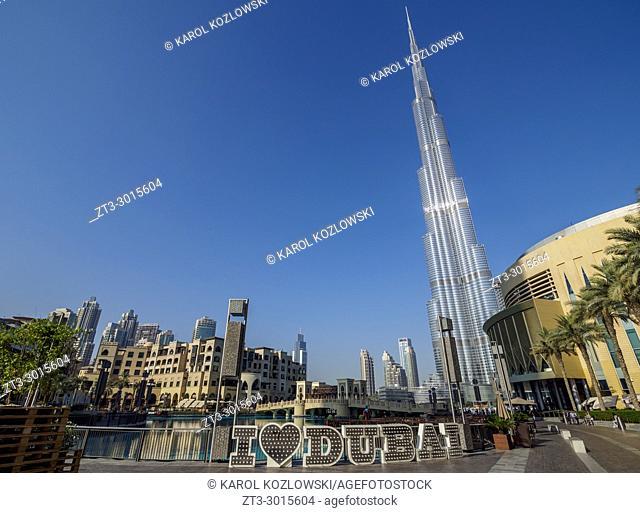 Burj Khalifa Skyscraper, Downtown, Dubai, United Arab Emirates