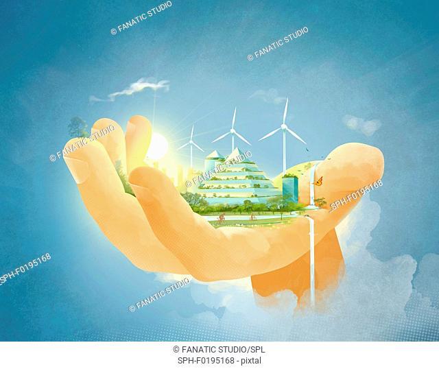 Illustration of environment conservation