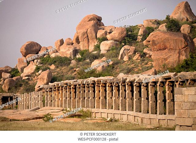 India, Karnataka, Achyuta Rayas Temple in Hampi
