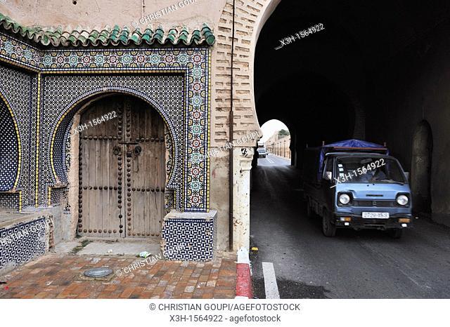 Medina's gate, Meknes, Morocco, North Africa
