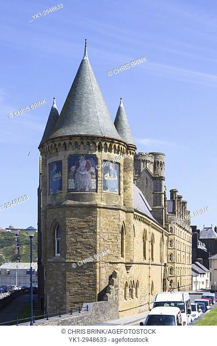 The Old College building of University of Wales in Aberystwyth Ceredigion Wales UK