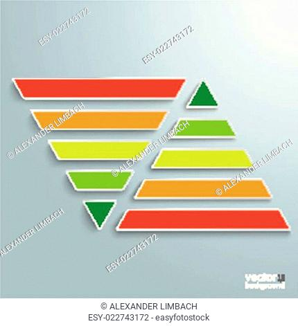2 Parallel Colored Pyramids Infographic