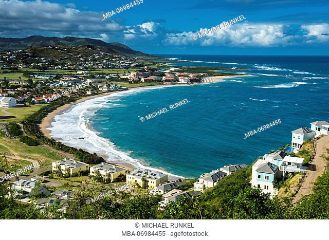 Overlook over North Frigate Bay in St.Kitts, St. Kitts and Nevis, Carribean