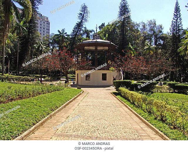 belo horizonte green nature in a square park