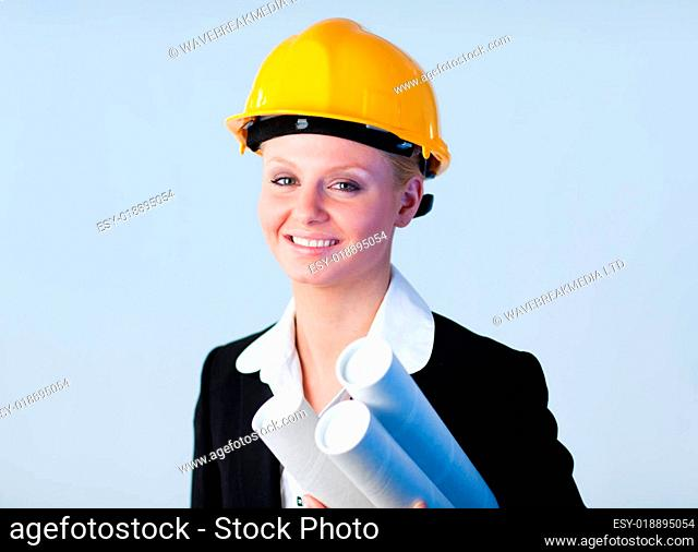 Confident looking architect