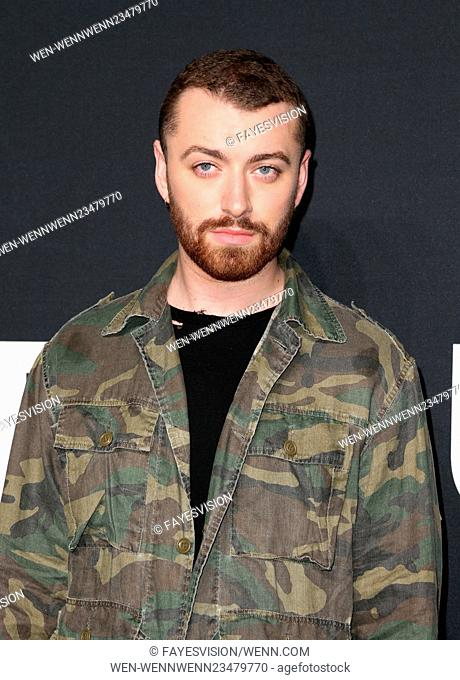 Saint Laurent at Hollywood Palladium - Arrivals Featuring: Sam Smith Where: Hollywood, California, United States When: 10 Feb 2016 Credit: FayesVision/WENN