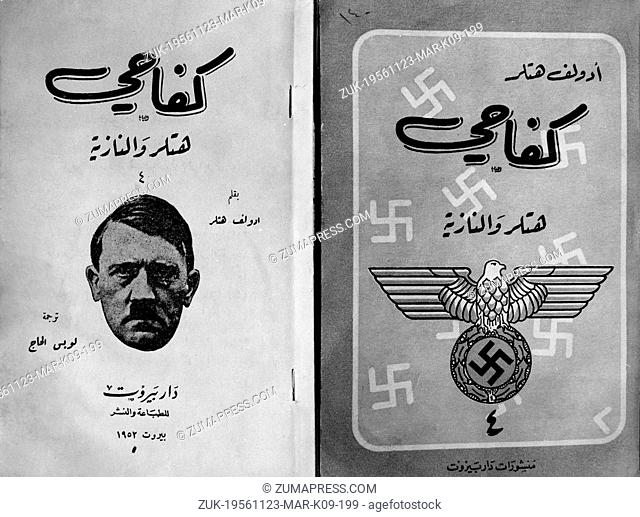 Nov. 23, 1956 - Berlin, Germany - When the Israelish forces seixed the first Egyptian soldiers they were astonished to find volumes of Hitler's 'Mein Kampf' in...