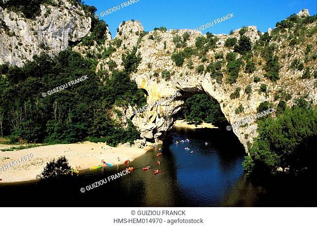 France, Ardeche, Pont d'Arc in the Ardeche Gorges