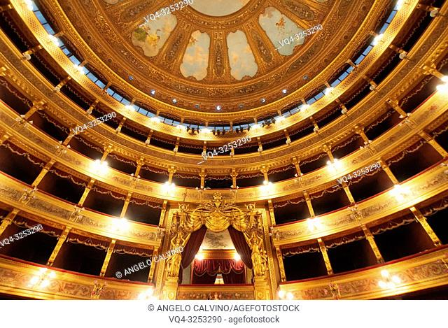 The Teatro Massimo in Palermo, 3200 seats, is Italy's largest and Europe's third largest opera house. It was built in the style of historicism at Piazza Verdi
