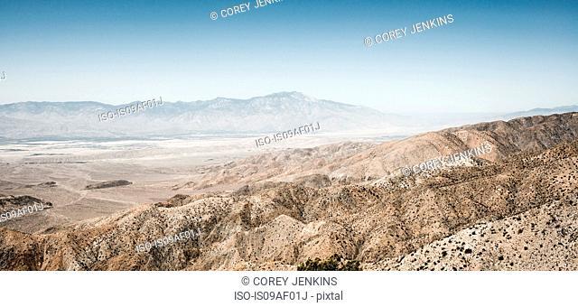 Panoramic landscape, Palm Springs, California, USA