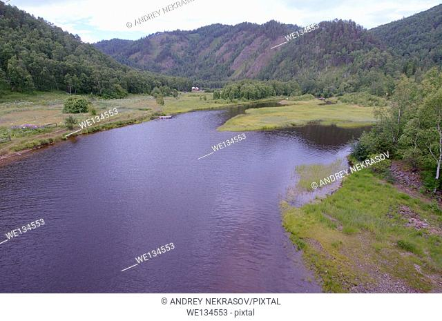 Russian landscape, lake Baikal, Siberia, Russian Federation