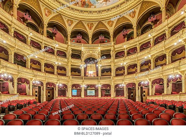 Interior of Hungarian State Opera House, Budapest, Hungary