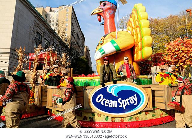 90th Annual Macy's Thanksgiving Day Parade Featuring: Ocean Spray Where: New York City, New York, United States When: 24 Nov 2016 Credit: IZZY/WENN