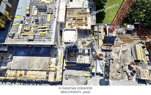 Construction site, view from above