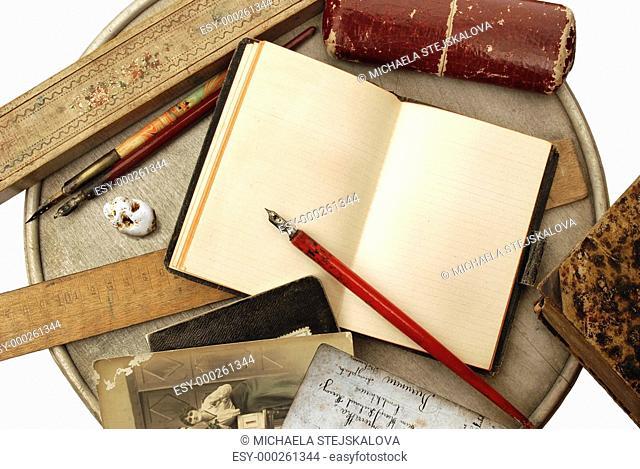 Old writing arrangement