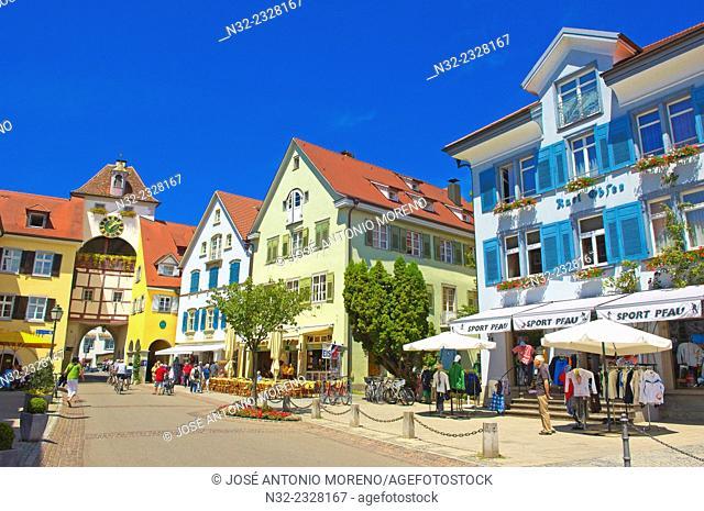 Meersburg, Old town, Castle, Lake Constance, Bodensee, Baden-Wuerttemberg, Germany, Europe
