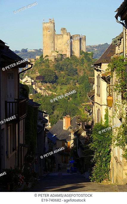 Najac, Aveyron, France. Village of Najac & castle