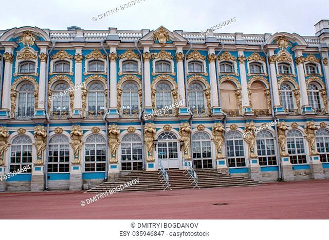Saint-Petersburg, Russia - August 12, 2016: City of St. Pererburge. The palaces and architecture of the city. Buildings of historical part of the city